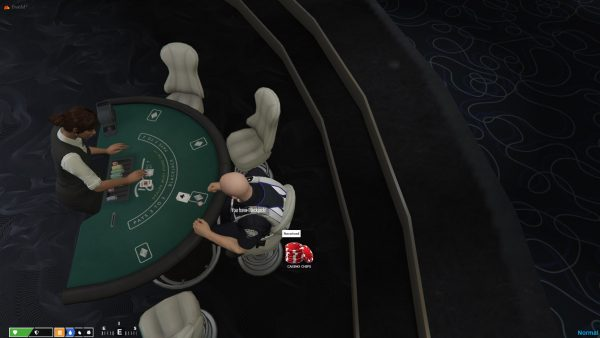 Custom FiveM Server | Playing Blackjack